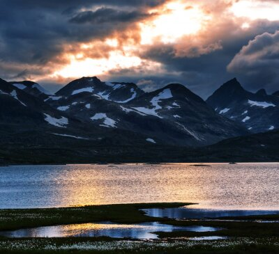 Cuadro Montañas en Noruega