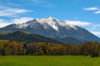Cuadro Monte Sopris Elk Montañas de Colorado - colores de otoño