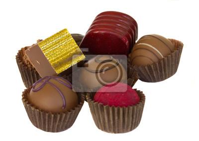 montón de caramelos de chocolate