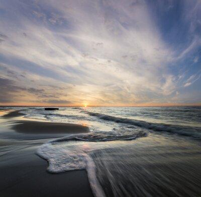 Cuadro Morski pejzaż, fale rozbijające się o morski brzeg