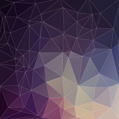 Cuadro Mosaik Polígono de fondo