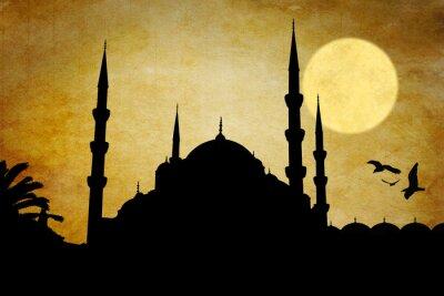 Cuadro Moschea silueta