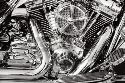 Cuadro Motocicleta con piezas cromadas