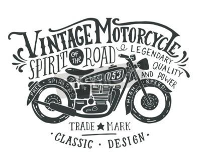 Cuadro Motocicleta de la vendimia.