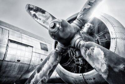 Cuadro Motor de un avión