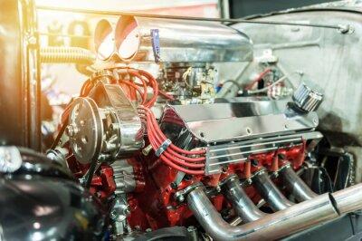 Cuadro Motor de una barra caliente