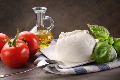 Cuadro Mozzarella di bufala con pomodori, basilico e olio extravergine