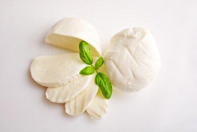 Cuadro Mozzarella fresca con albahaca