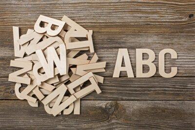 Cuadro Mucchio di Lettere ABC