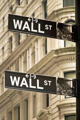 Cuadro Muestras de la calle Muro de la ciudad de Nueva York