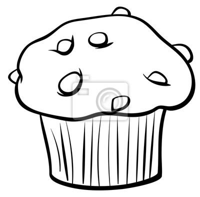 Muffin con chocolate para colorear pinturas para la pared • cuadros ...