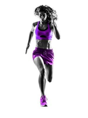 Cuadro Mujer corredor de footing corredor correr silueta