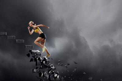 Cuadro Mujer deportiva superando desafíos