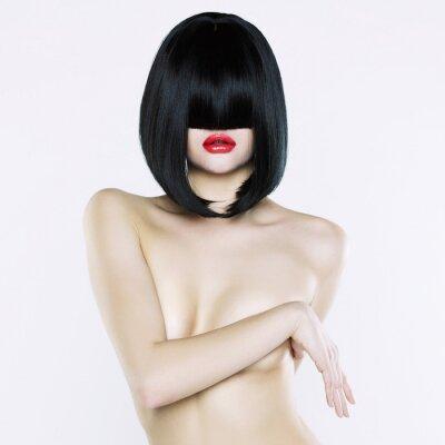 Cuadro Mujer desnuda con el pelo corto