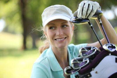 Cuadro Mujer en el campo de golf