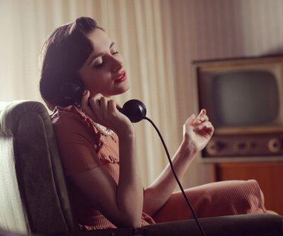 Cuadro Mujer en el teléfono