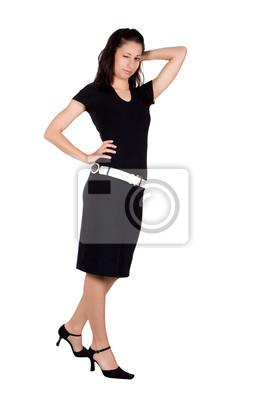 1993a4986 Mujer en traje negro pinturas para la pared • cuadros casual