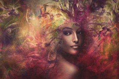 Cuadro Mujer fantasía compuesto