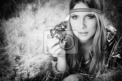 mujer hippie