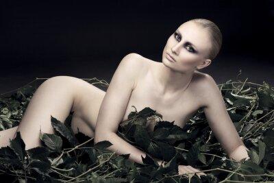 Cuadro Mujer rusa apasionada y sexy de una hermosa figura