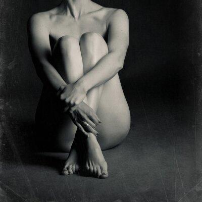 Cuadro Mujer sentada desnuda