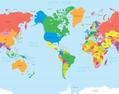 Cuadro Mundo mapa de América