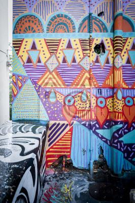 Cuadro Mur de graffitis coloré