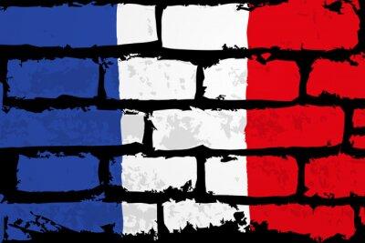Cuadro mur flaga francji Wektor
