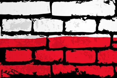 Cuadro mur flaga polska Wektor