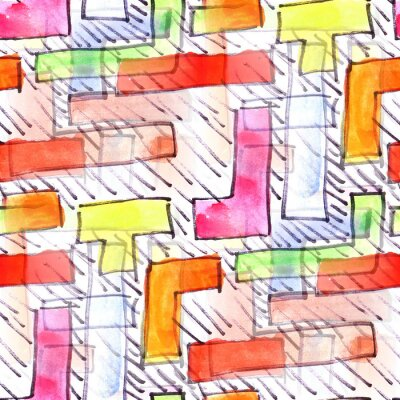 Cuadro Mural de color de fondo rayas patrón transparente
