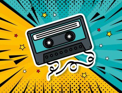 Cuadro music cassette pop art style vector illustration design