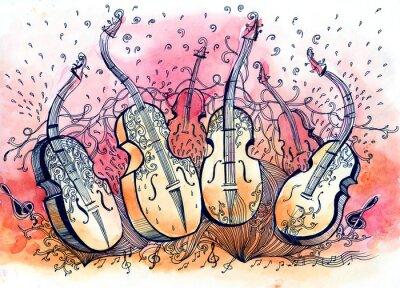 Cuadro música contrabajo