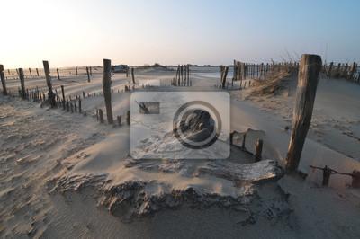 Muy fuerte viento en la playa
