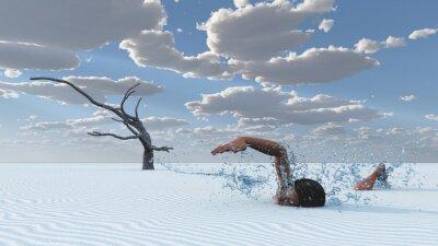 Cuadro Nadador de las arenas del desierto