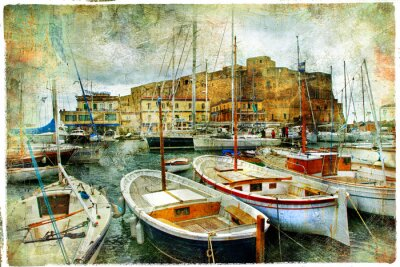 Nápoles, Italia, imagen artística