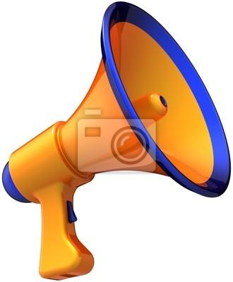 Naranja noticias comunicación anuncio megáfono