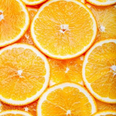 Cuadro Naranja rebanadas de fondo