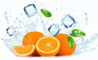 Cuadro Naranjas con el chapoteo del agua