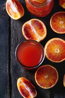 Cuadro Naranjas de sangre con jugo