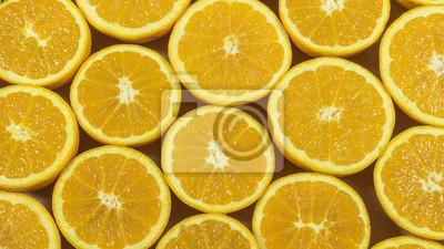 naranjas frescas en rodajas