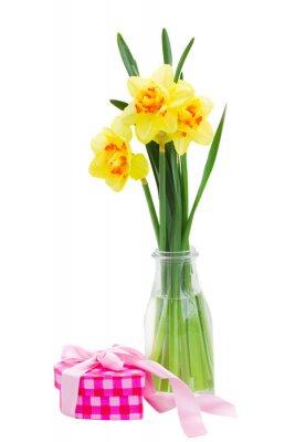 Cuadro narcisos flores en el florero