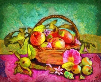 Cuadro Naturaleza muerta con manzanas