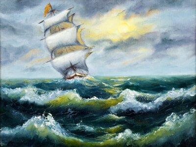 Cuadro Nave en el océano