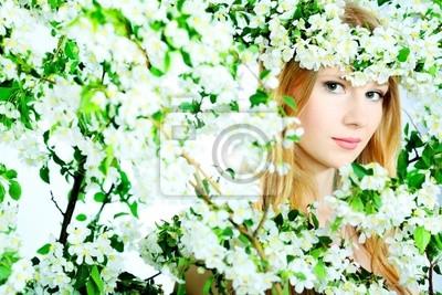 ninfa en flores