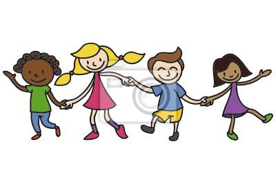 Niños Amistad Pinturas Para La Pared Cuadros Sin Límites