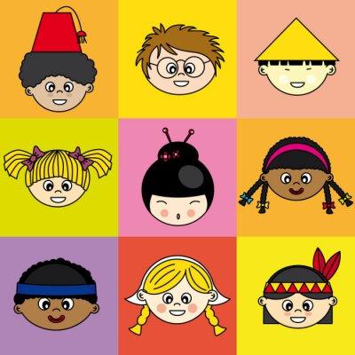 Cuadro Niños de Diferentes etnias