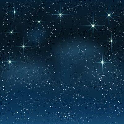 Cuadro Noche cielo estrellado
