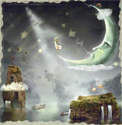 Cuadro Noche. Tiempo de milagros y magia