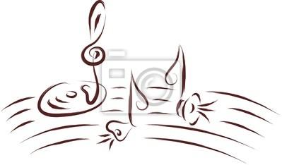 Notas De La Música Dibujo Abstracto Pinturas Para La Pared