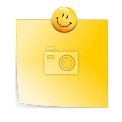 Notizzetel mit Smiley Imán